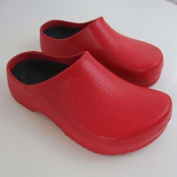 767ed3134a2860 Birkenstock Shoes - Super Birki Birkenstocks Clogs Red Size 38
